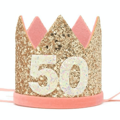 an image of a 50th birthday crown for her