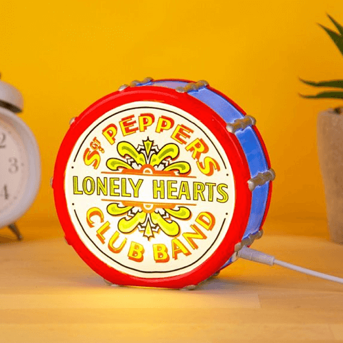 an image of a Beatles themed LED lamp