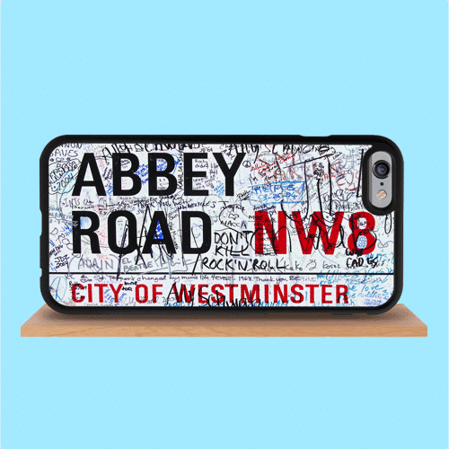 an image of a Beatles-themed Abbey Road iPhone case