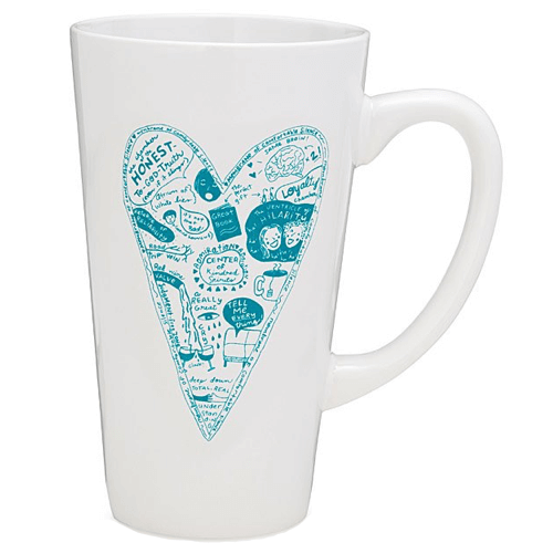 an image of best friends heart mug - one of our ideas of gifts for your best friend