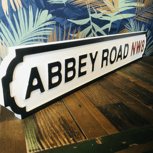 an image of a Beatles gifts suggestion - an Abbey Road street sign