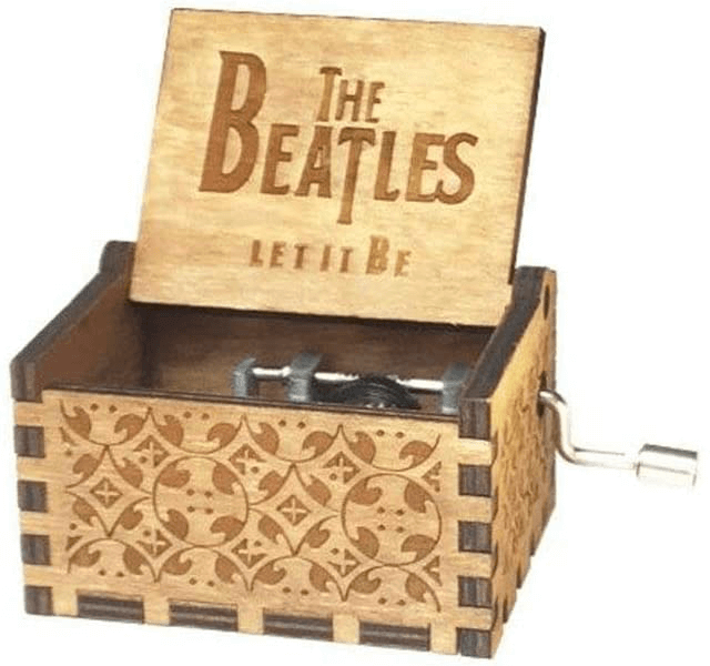 an image of a Let It Be music box - one of the more unusual beatles gifts available