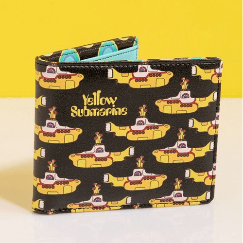 an image of a Beatles gift suggestion - a Yellow Submarine wallet