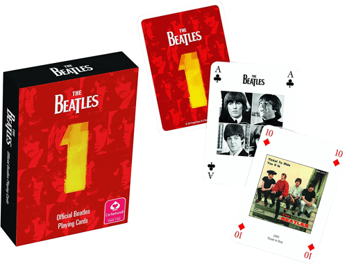 an image of Beatles playing cards