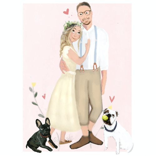an image of a custom couple or family portrait gift idea