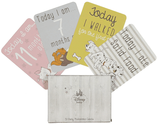 an image of disney baby milestone cards - one of the Taz & Jay suggestions for new mum gifts