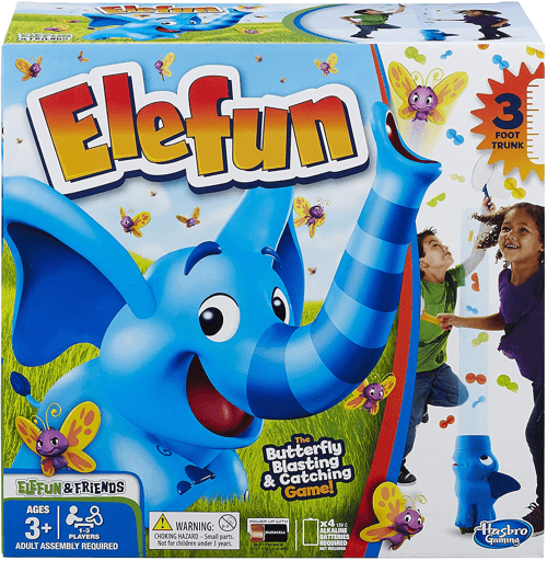 an image of the hasbro elefun game - an ideal elephant themed gift for kids