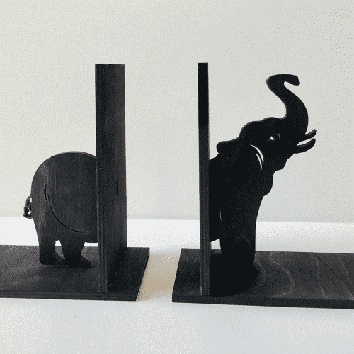 an image of elephant bookends