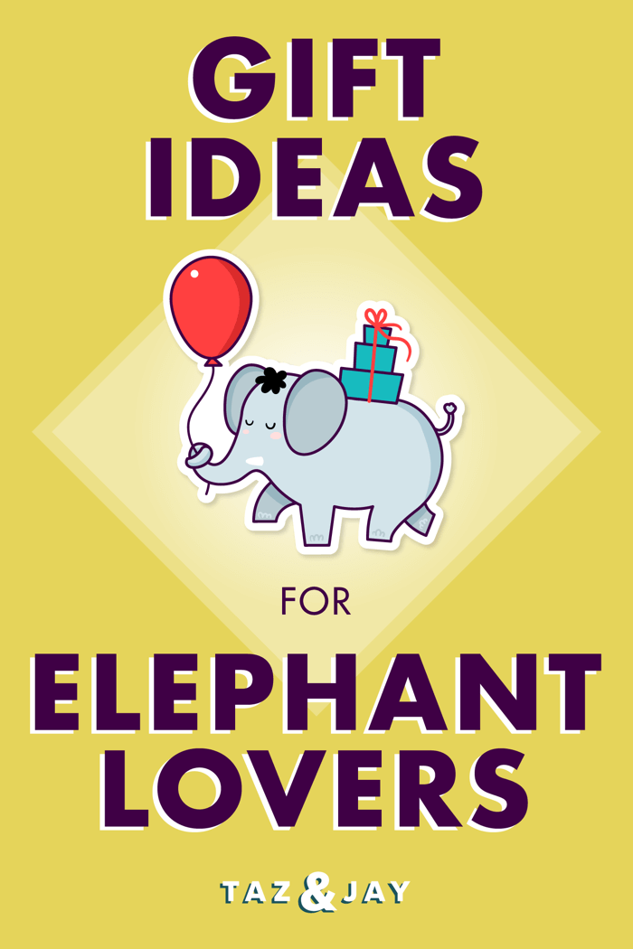 gifts for elephant lovers pinterest pin image