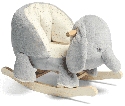 an image of an elephant rocker for a baby boy