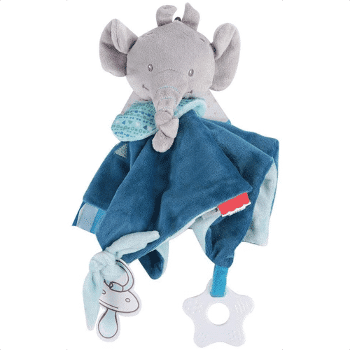 an image of a elephant themed baby comfort security blanket