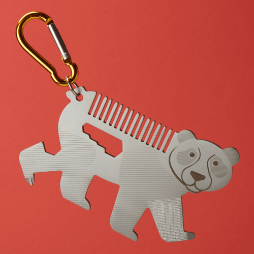 image of a giant panda on the go multi tool anniversary gift for him