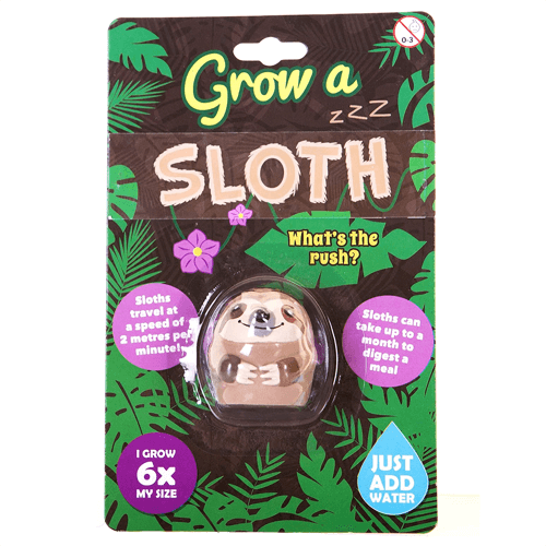 an image of a grow a sloth toy gift