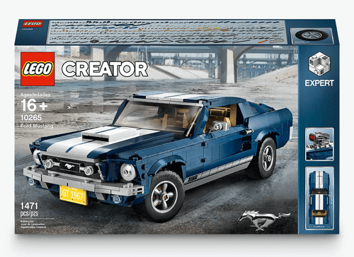 image of a personalised lego ford mustang car model