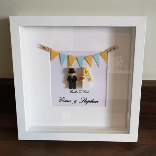 an image of a lego wedding personalised frame