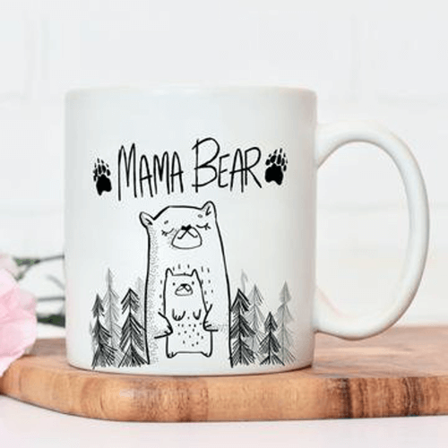 an image of a mama bear mug gift ideal for new mums