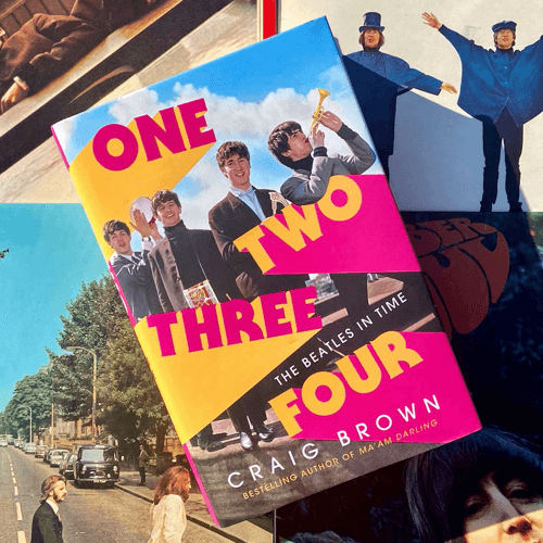 an image of a Beatles book titled 'One Two Three Four - The Beatles in Time' by Craig Brown