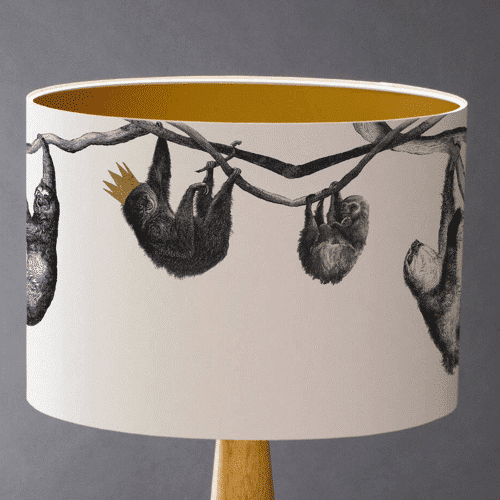 an image of an animal themed lampshade