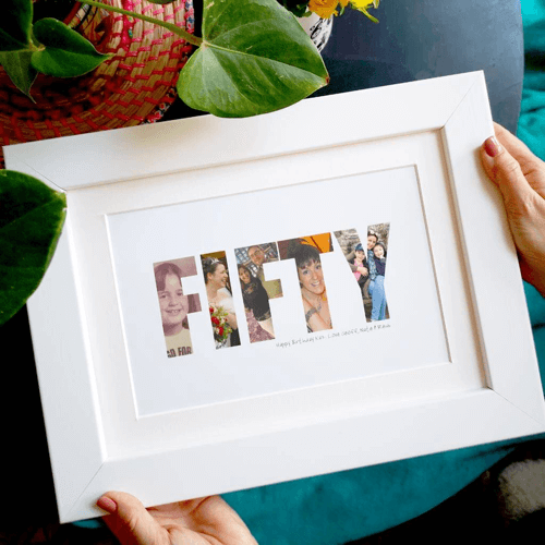 an image of a fiftieth birthday photo print
