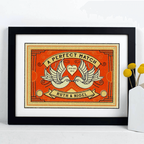 an image of a personalised matchbox personalised print
