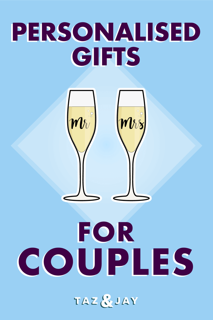 personalised gifts for couples pinterest pin image