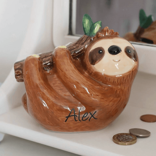 an image of a personalised animal themed money box