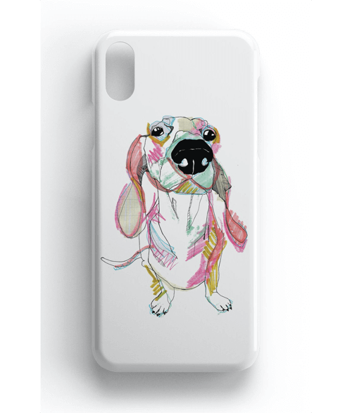 an image of a sausage dog phone case