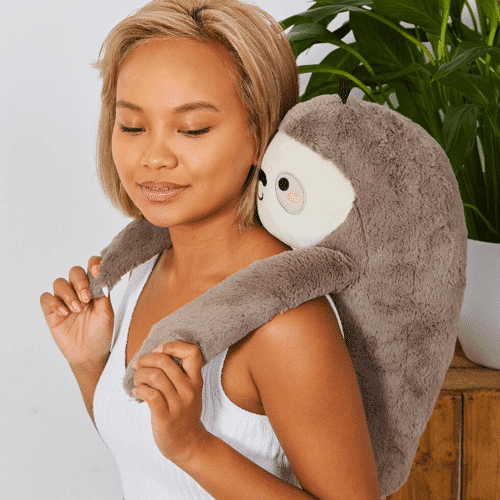 an image of sloan the sloth back massager gift