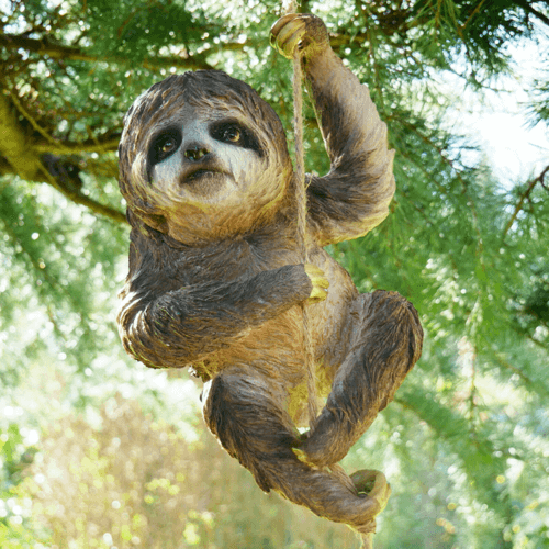 an image of a sloth hanging tree ornament - one of our sloth gift ideas