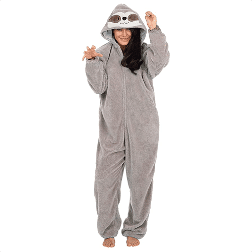 an image of a sloth onesie - one of our ideas of sloth gifts for her