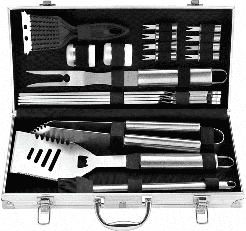 an image of a BBQ grill tool kit, one of our 40th birthday gifts for men suggestions