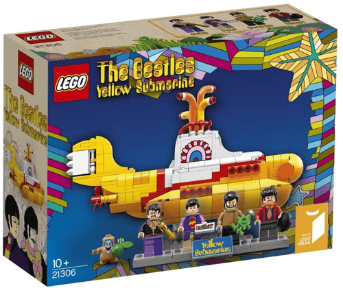 an image of a Lego Yellow Submarine