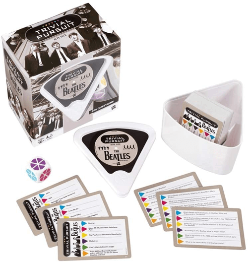 an image of a Beatles-themed Trivial Pursuit game gift
