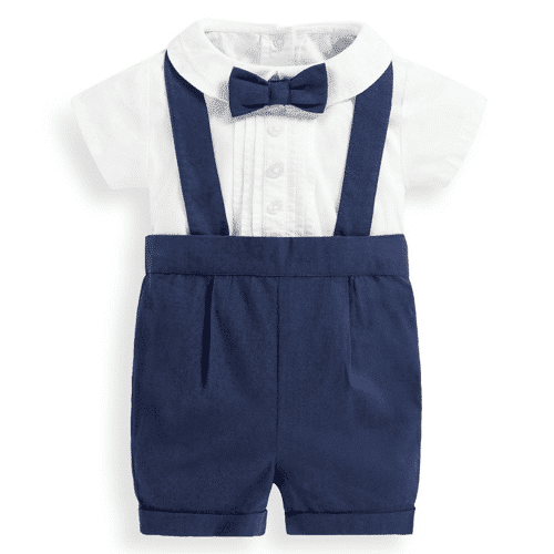 an image of a three piece navy shorts set gift for baby boy