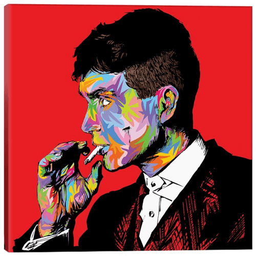 an image of a Tommy Shelby peaky blinders inspired artwork canvas