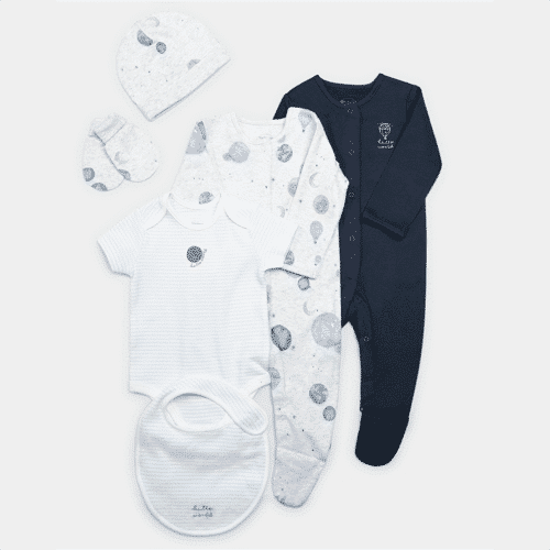 an image of a clothing set for newborn baby boys