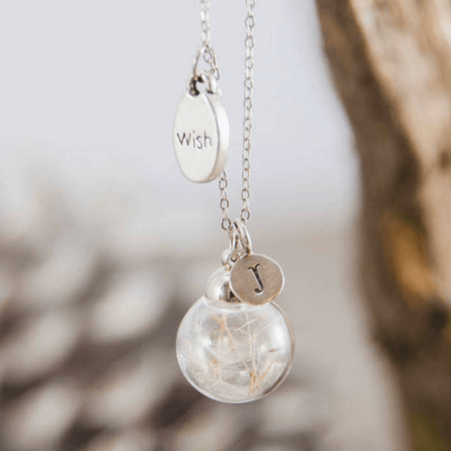an image of a dandelion wish necklace