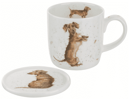 an image of a two piece sausage dog mug set - one of our suggestions of sausage dog gifts