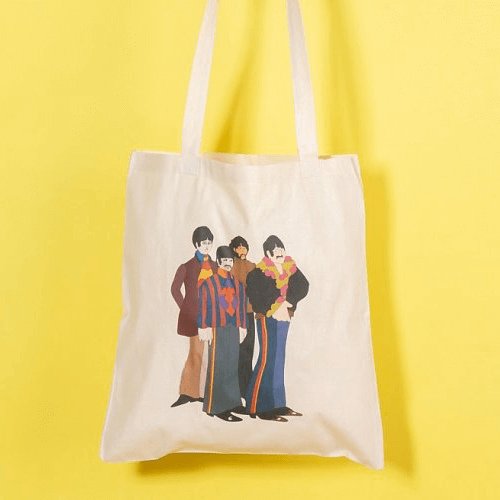 an image of a Beatles tote bag