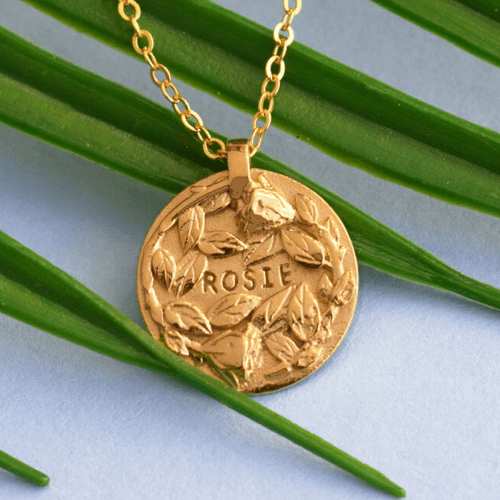 an image of an 18k Gold Or Silver Plated Personalised Rose Necklace - one of our special 21st birthday gifts for daughter suggestions