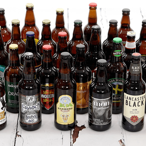 an image of a birthday gift for men consisting of 30 birthday beers
