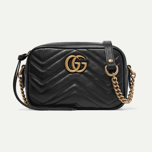 an image a Gucci Marmont quilted leather shoulder bag
