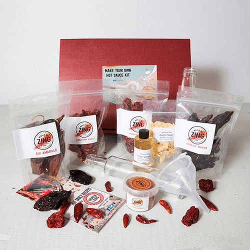 an image of a make your own hot sauce kit - one of our suggestions of unique 30th birthday gifts for men