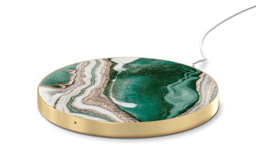 an image a marble wireless charger for a mobile phone