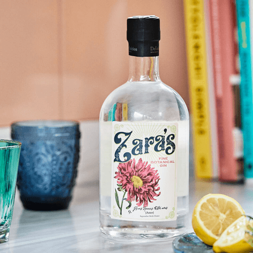an image of personalised birth flower gin - one of our suggestions for 21st birthday gifts for daughter