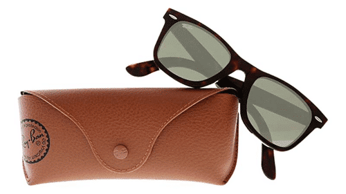 an image of tortoiseshell Ray-Ban wayfarer sunglasses