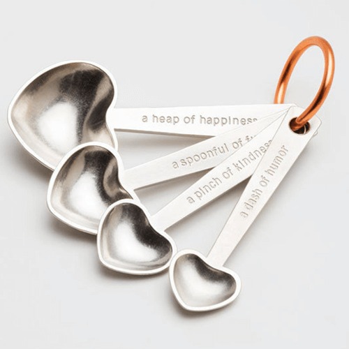 an image of measuring spoons with quotes