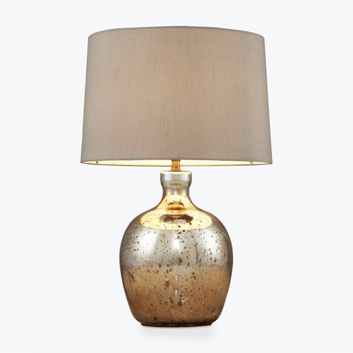 an image of a copper table lamp