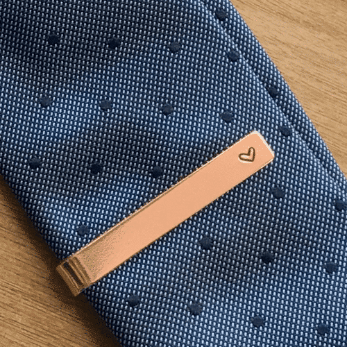 an image of a copper tie clip