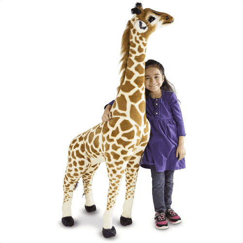 an image of a giant giraffe toy